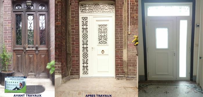 Direct Fabricant Fenêtres Pvc Alu Stores Portails AMBIANCE - Porte d entrée avec tierce
