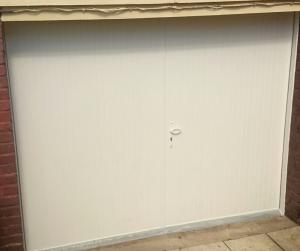 Porte de garage pliante pvc blanc rouen