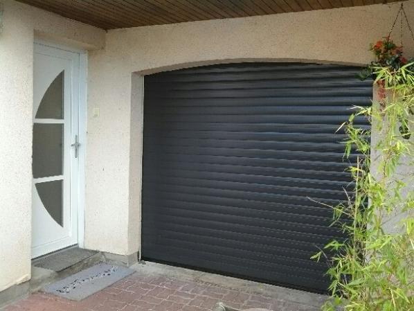 Porte de garage rouen a enroulement radio