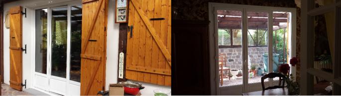 Porte fenetre bois rouen