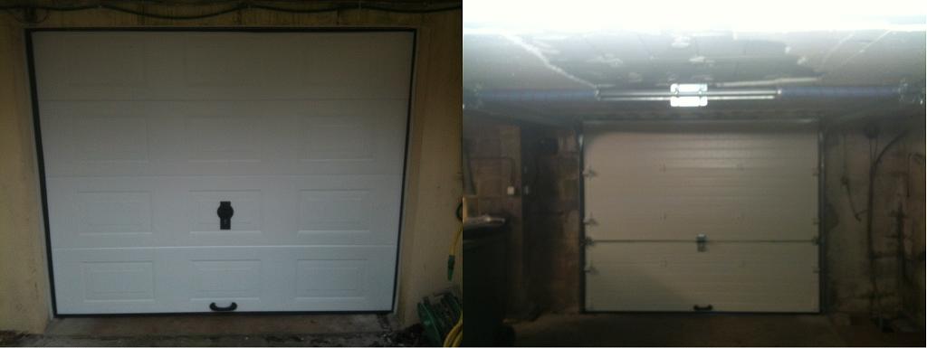 Porte de garage Rouen, sectionnelle plafond 001